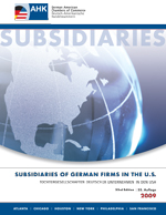 Subsidiaries of German Companies in the U.S. 2009
